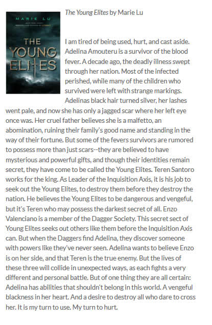The Young Elites: Surrey Teens Read
